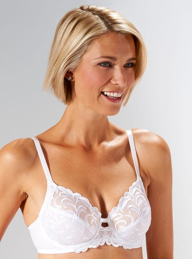 9673 - White - Soft Comfortable Bra by Triumph