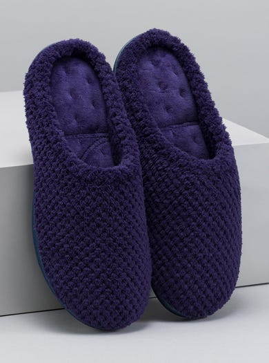 9796 - Bilberry - Textured Towelling Mules