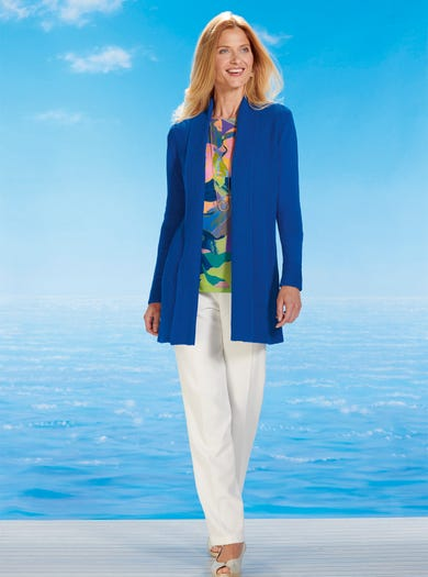 9801 - Cobalt Blue - Cosy Cotton Cardigan