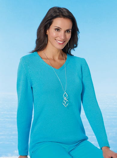9804 - Aqua - Cotton Jumper