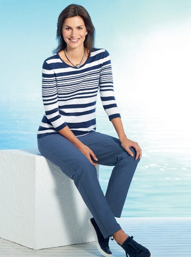9809 - Navy - Luxury Cotton Jumper