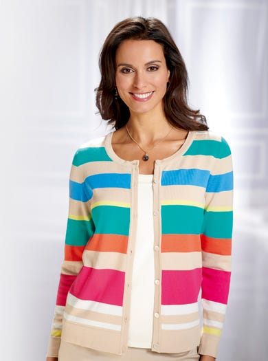 9811 - Natural - Luxury Pima Cotton Cardigan
