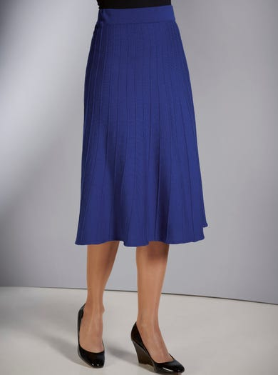9816 - Cobalt Blue - Pure Merino Wool Skirt