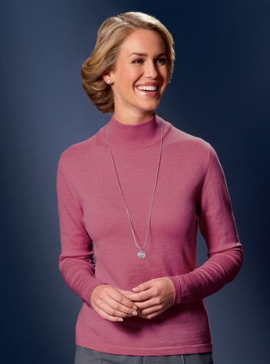 9830 - Raspberry - Fine Merino Turtleneck