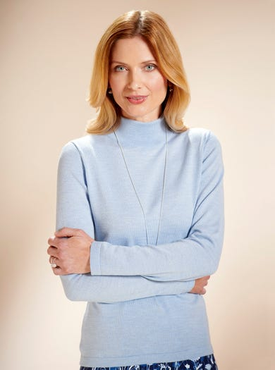 9830 - Blue Mist - Soft Merino Jumper
