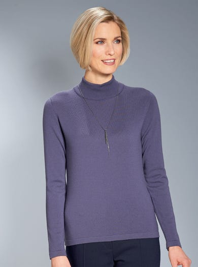 9830 - Grape - Fine Merino Turtleneck