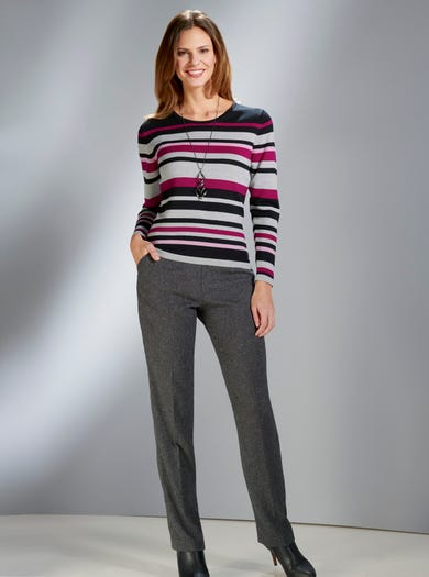 9832 - Silver Grey - Soft Merino Jumper