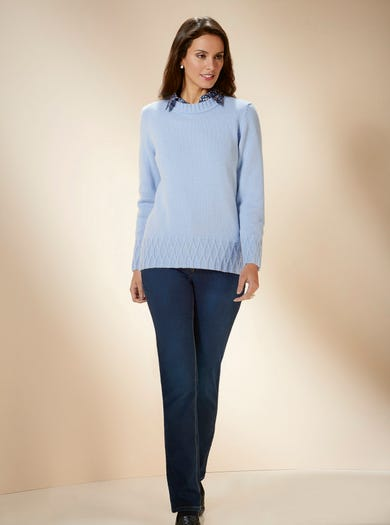9834 - Lake Blue - Luxury Geelongora Jumper