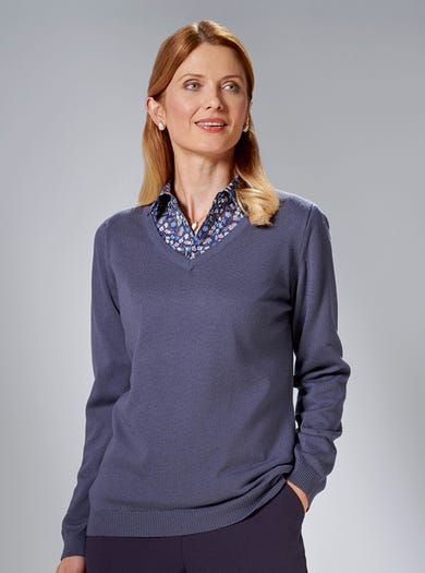 9836 - Grape - Easy Merino Jumper