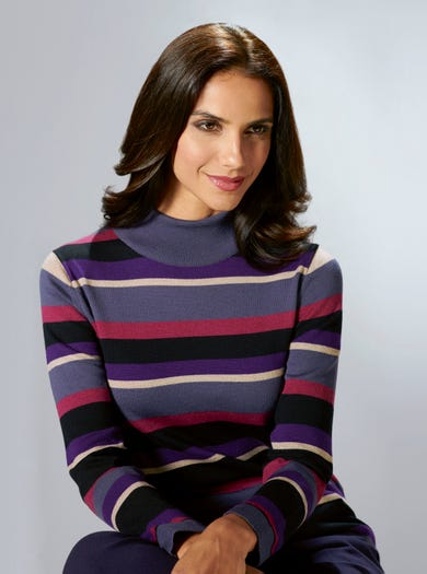 9837 - Grape - Supersoft Merino Wool Jumper