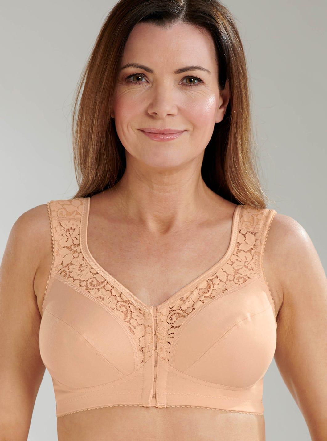 Cotton Lace – Bügelloser BH mit Vorderverschluss von Miss Mary of Sweden
