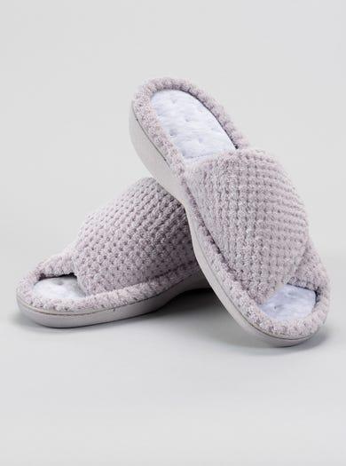9846 - Grey - Popcorn Peep Toe Mule