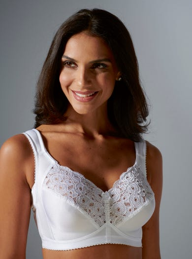 9848 - White - Supportive Lace Bra by Miss Mary of Sweden