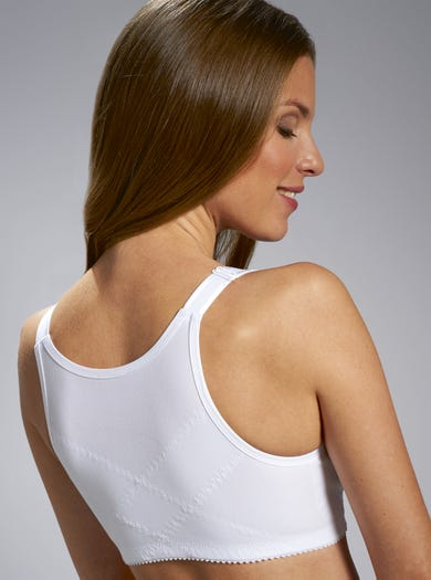 9854 - White - Supportive Front-fastening Bra by Miss Mary of Sweden