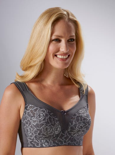 9855 - Dark Grey - Super-supportive Bra by Miss Mary of Sweden