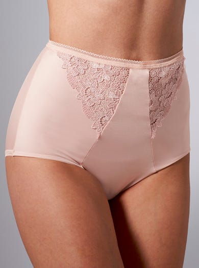 9859 - Pink - Exclusive Embroidered Briefs by Miss Mary