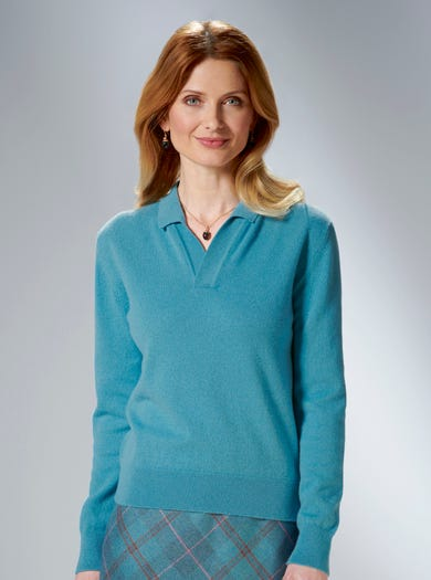 9869 - Teal - Pure Cashmere Jumper