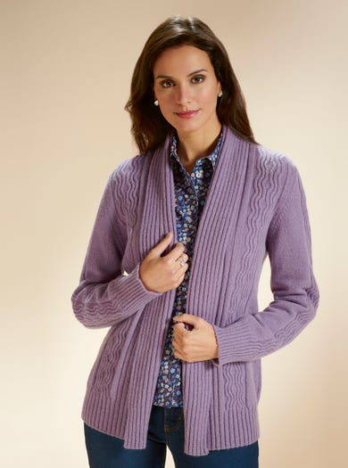 9876 - Heather - Supersoft Geelongora Cardigan