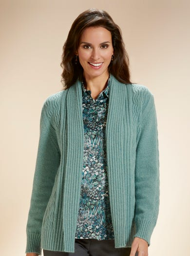 9876 - Soft Sage - Supersoft Geelongora Cardigan