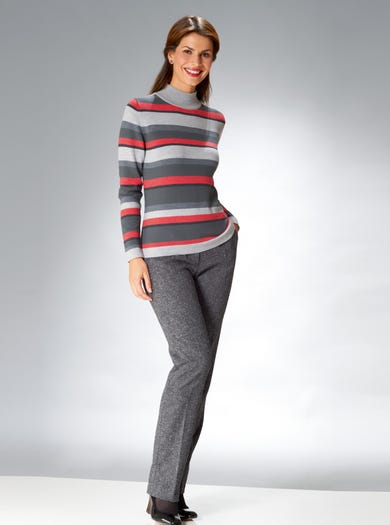 9878 - Silver Grey - Supersoft Merino Jumper