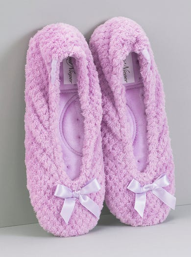Popcorn Terry Ballerina Slippers