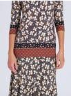4570 Floral Border Top & 4576 Floral Jersey Skirt