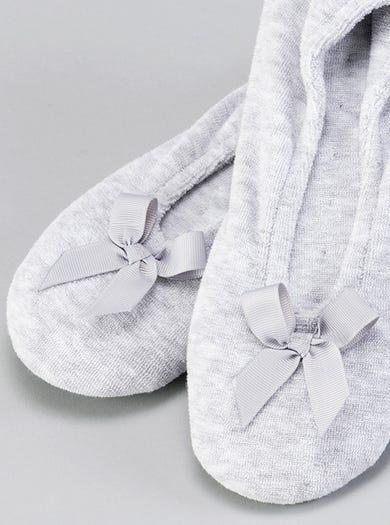 9897 - Silver Grey - Cosy Ballerina Slippers