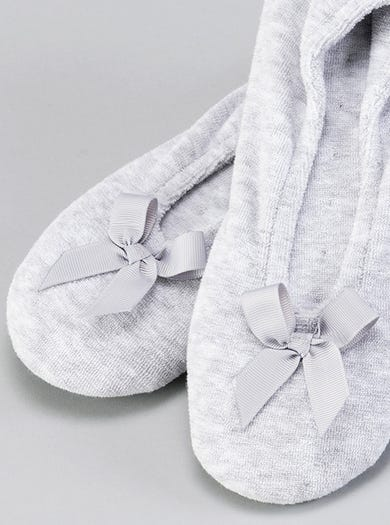 9897 - Silver Grey - Cosy Ballerina Slippers