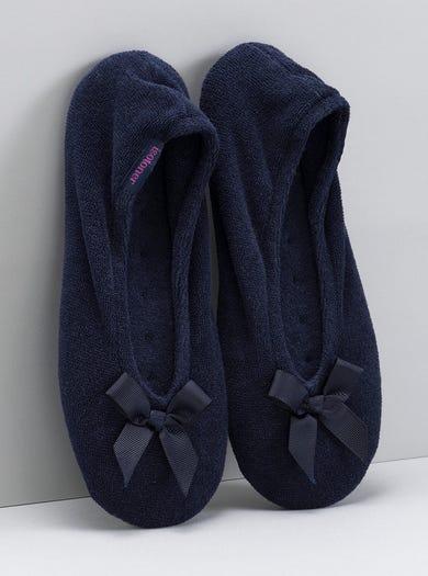 9897 - Navy - Cosy Ballerina Slippers