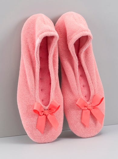 9897 - Coral - Cosy Ballerina Slippers