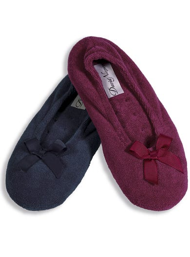 9897 - Berry - Cosy Ballerina Slippers