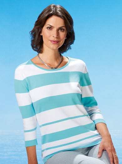 9914 - Aqua - Cool Cotton Jumper