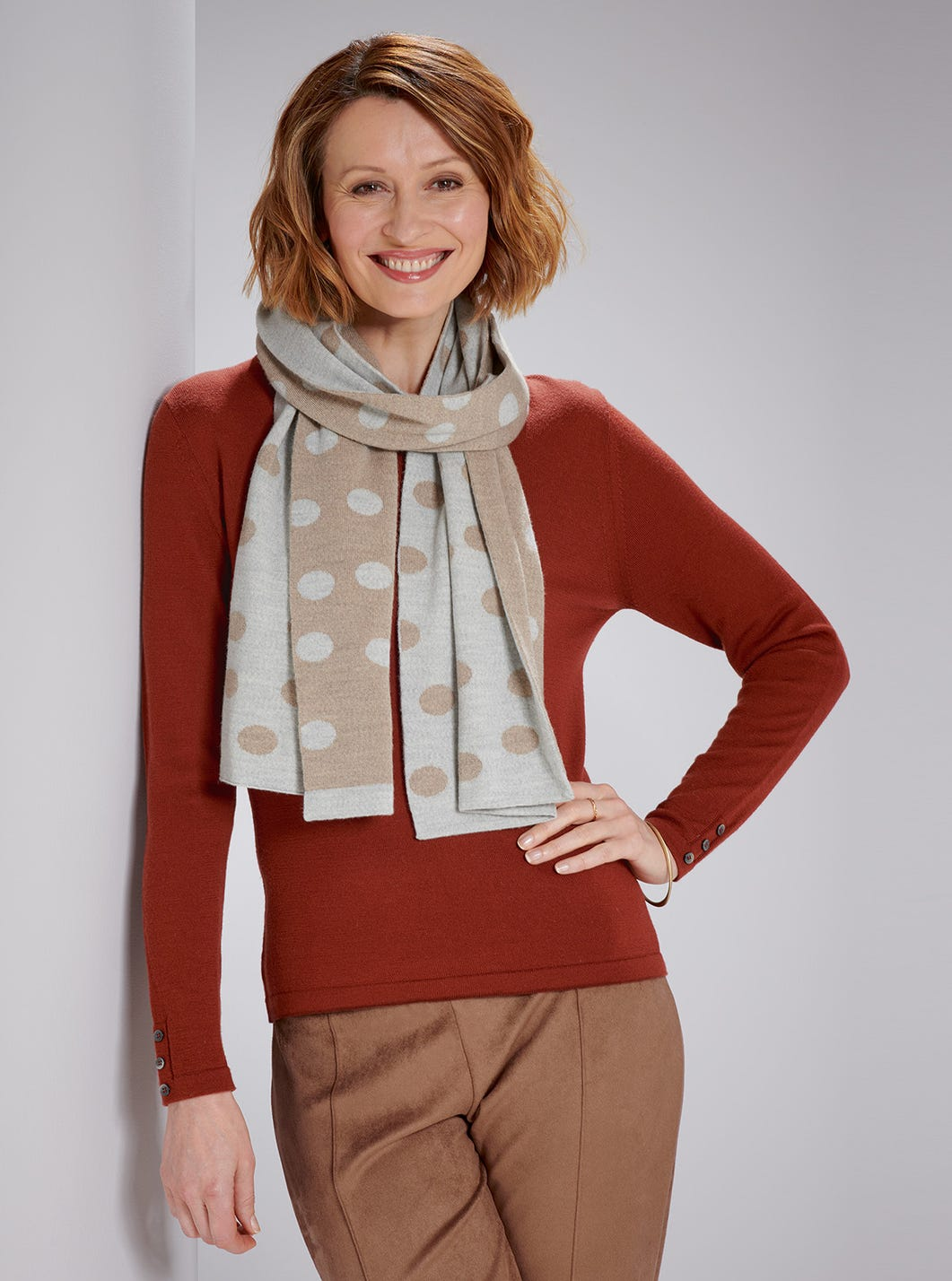 Soft Spotted Scarf