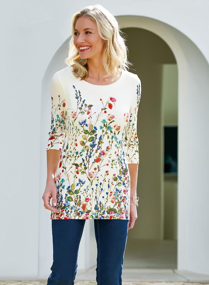Fröhliches Jersey-T-Shirt