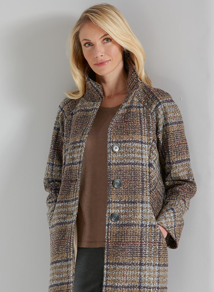 Luxury Tweed-look Coat
