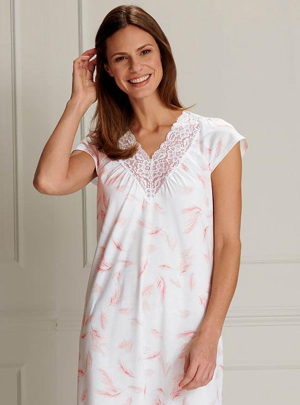 Jersey and Lace Nightdress