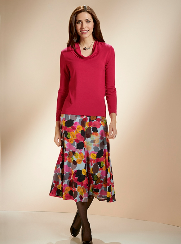 Fine Stretch Jersey Skirt