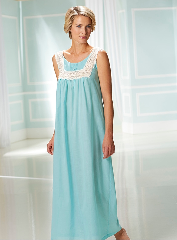 Woven Cotton Sleeveless Nightie