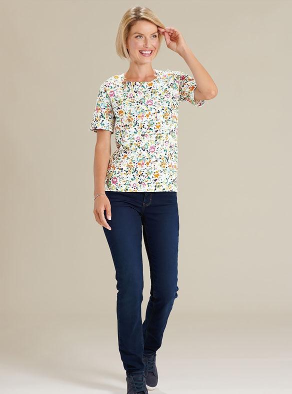 Jean et T-shirt coloré
