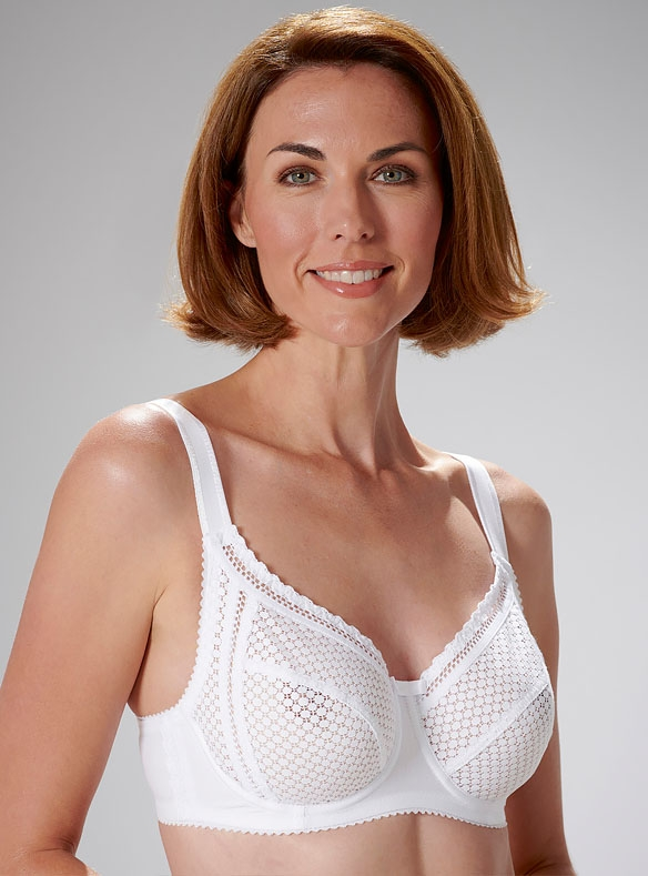 Cotton-rich Lace Bra by Miss Mary of Sweden