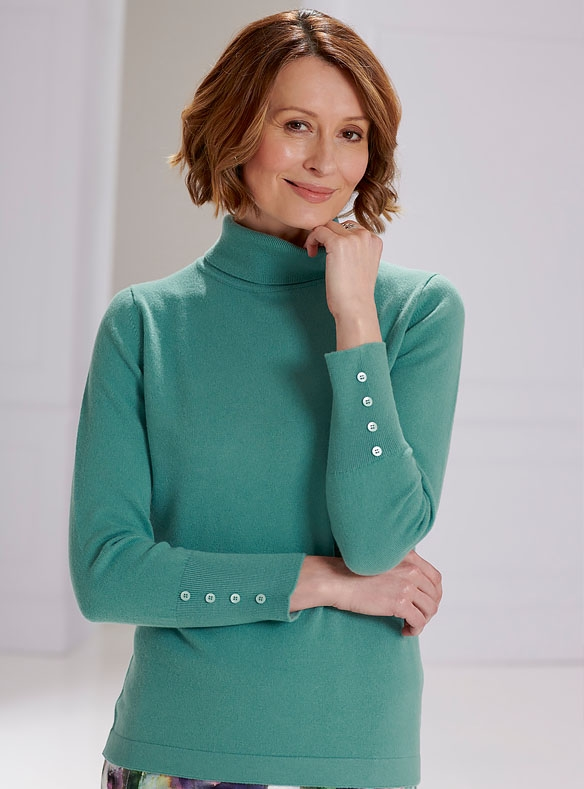 Rollneck with sumptuous cashmere