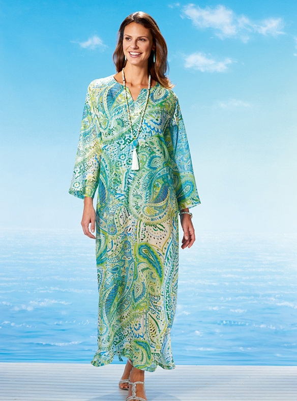 Pure Silk and Cotton Kaftan