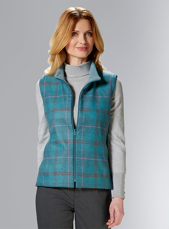 Pure Wool Tweed Gilet
