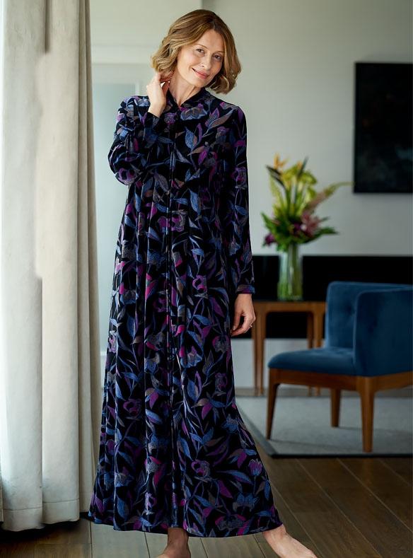 Robe de chambre en velours
