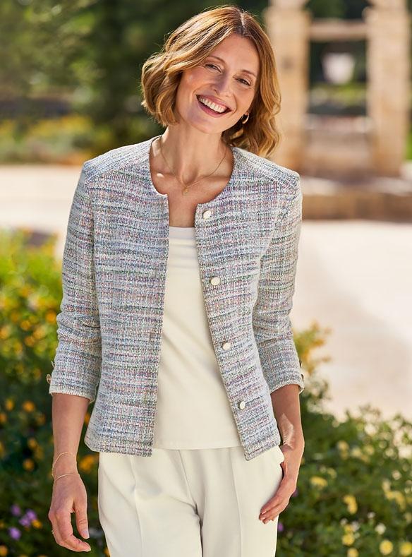 Klassische Jacke mit sanftem Stretch