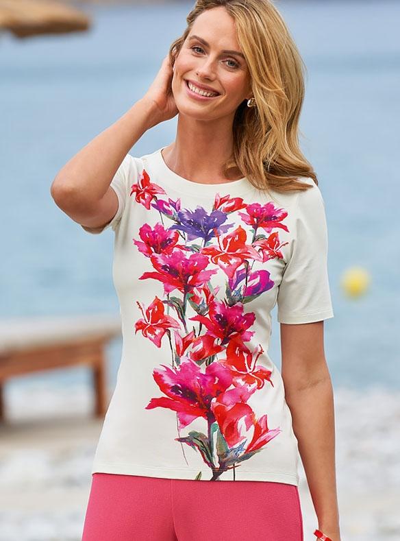 Lilien-Druck-T-Shirt