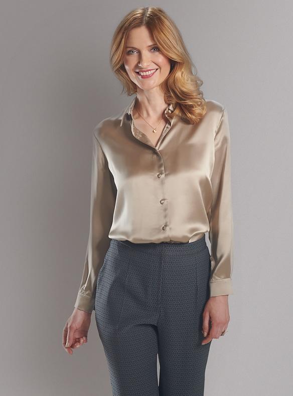 Luxe zijden blouse