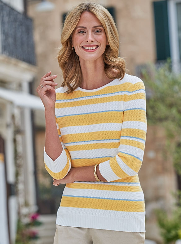 Striped Cotton Knit