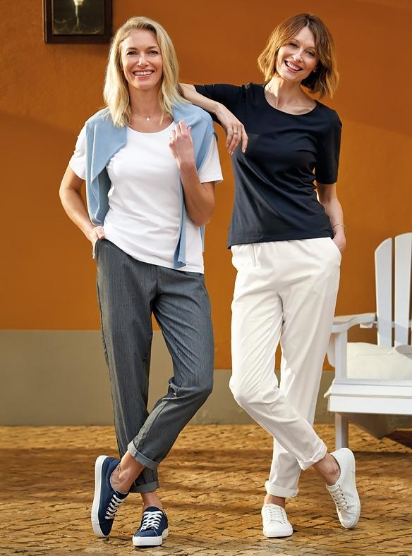 Hose mit Baumwollanteil und Klassisches T-Shirt