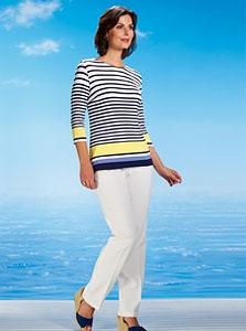 Smart Striped Jersey Top